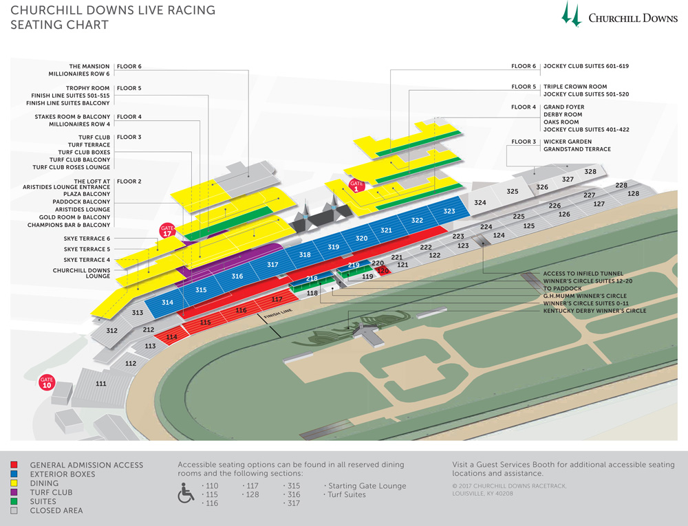 Kentucky Derby Seating Chart
